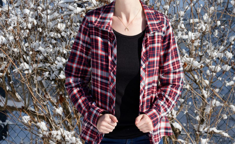 Cheyenne Bluse, Biostoff, hey june patterns, Holzfällerhemd,