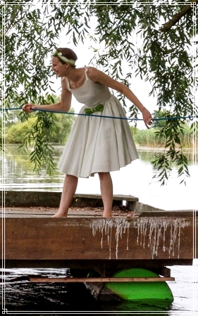 Hochzeit, Kleid, Hochzeitskleid, Petticoat, selbstgenäht, genäht, 50er Jahre, schleife, floß