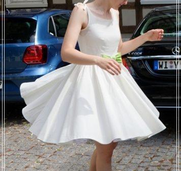 Hochzeit, Kleid, Hochzeitskleid, Petticoat, selbstgenäht, genäht, 50er Jahre, schleife