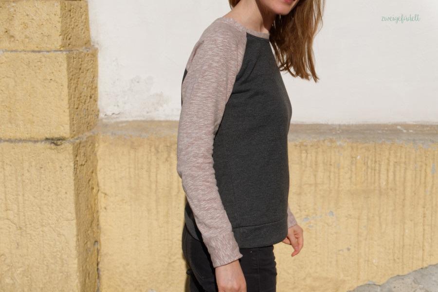 Linden Sweatshirt, Grainline Studio, Bio-Stoff, Stoffreste